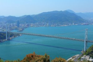 関門海峡 火の山公園より