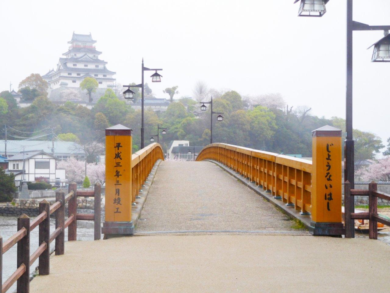 唐津城と城内橋